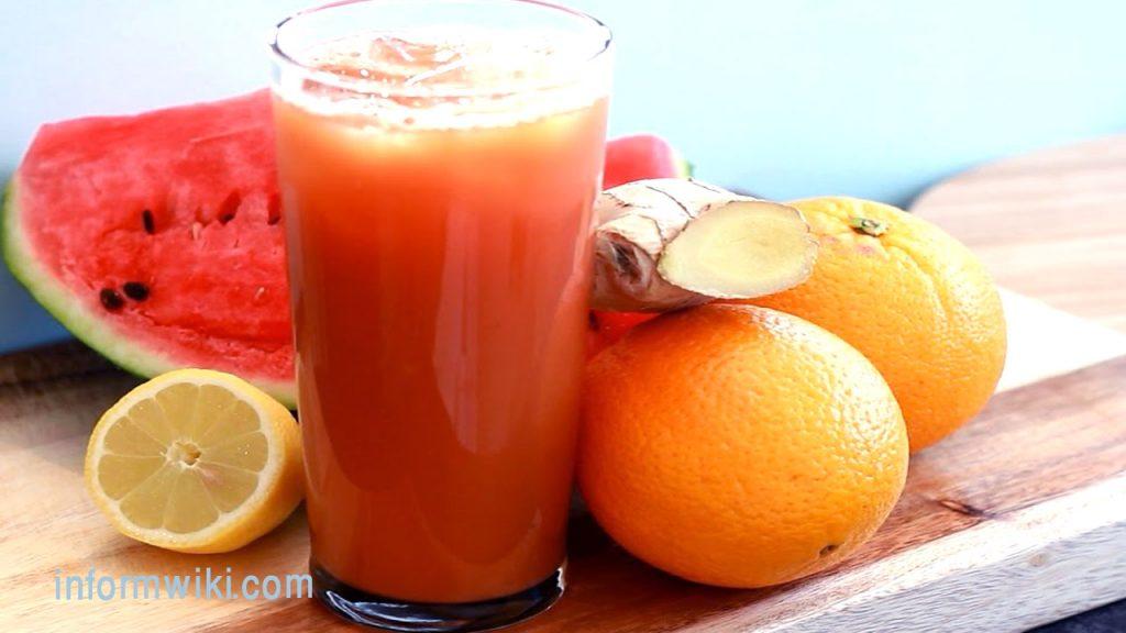 blackheads-Watermelon juice and lemon juice