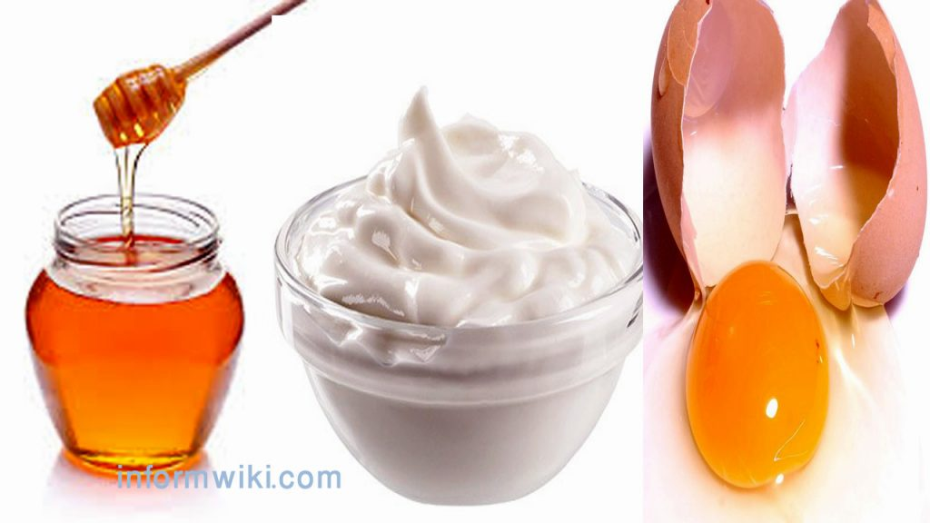 Blackheads -Honey,Egg and yogurt