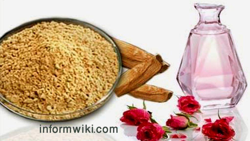 Blackheads-Sandal wood powder and Rose water