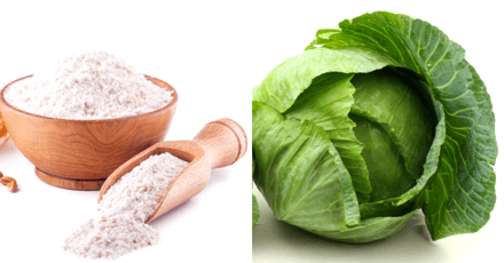 Cabbage leaves and flour-How to Remove Tan