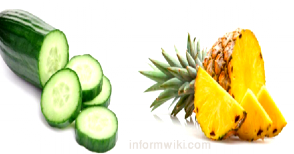 Juicing recipes-Cucumber and pineapple